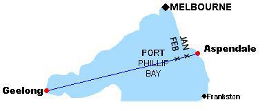 Port Phillip Bay Chart