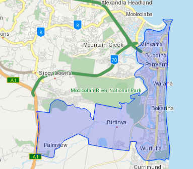 Kawana-Waters-Map