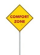 Road sign- comfort zone