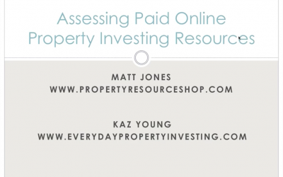 Assessing Paid Online Property Investing Resources—Webinar with Matt Jones